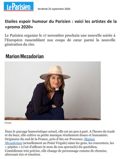 Le Parisien.fr 25.09.20