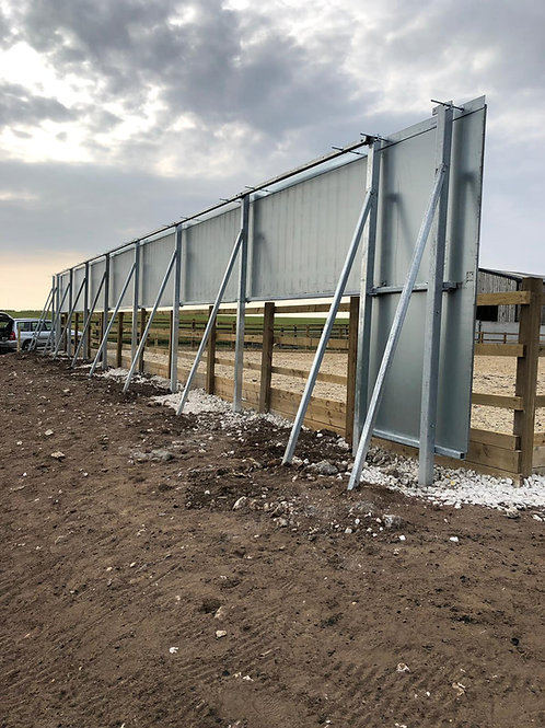 20m Shortside of Mirrors on Steel Structure