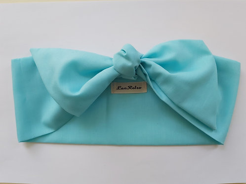 Aqua Blue Plain Coloured Head Tie