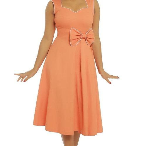 Lindy Bop Grace Tangerine Swing Dress