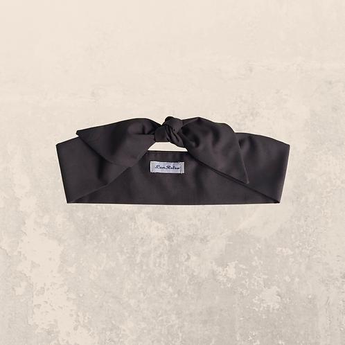 Dark Brown Plain Coloured Self Tie Headband 6 cm