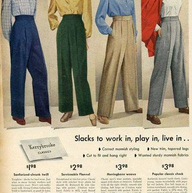 1940s Pants/Trousers -Then and Now