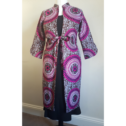 Traditional African Ankara Print Dress Coat For Women
