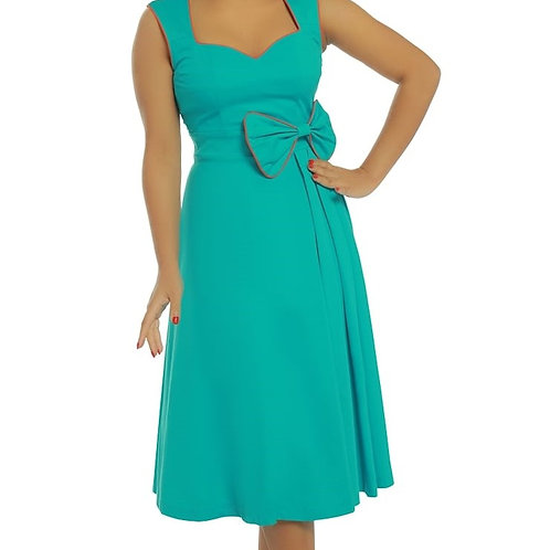 Lindy Bop Grace Turquoise Swing Dress
