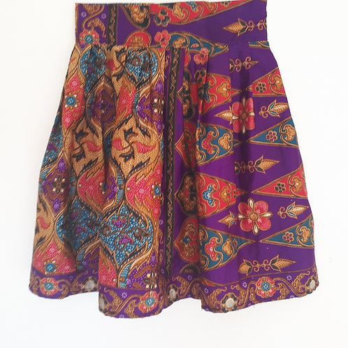 Kid's African Print Skirt Front View