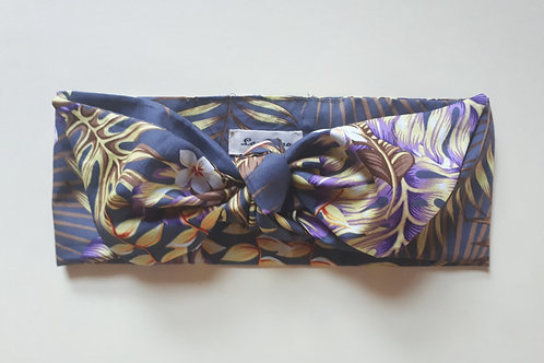 Grey Tropical Print Head Tie