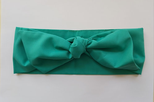 Jade Green Plain Coloured Head Tie