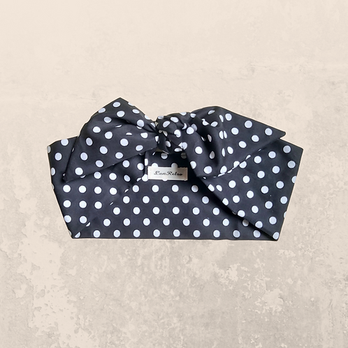Black & White Polka Dot Head Tie