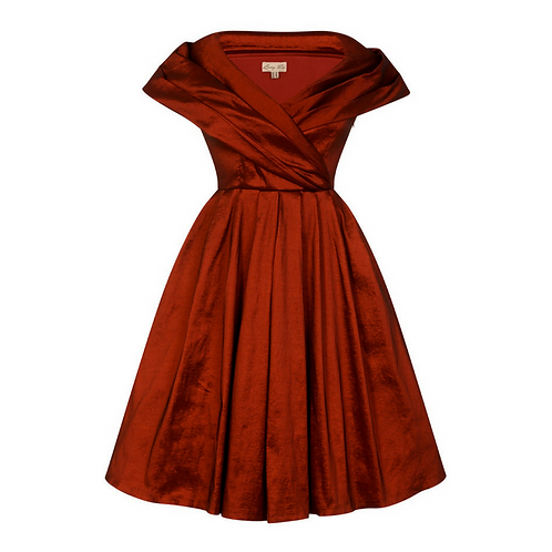Amber Rust Red Dress