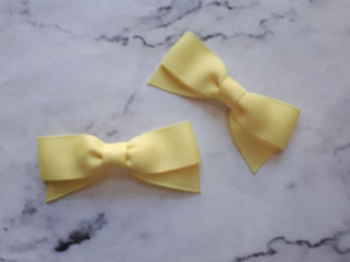 Small Yellow Hair Bow Set
