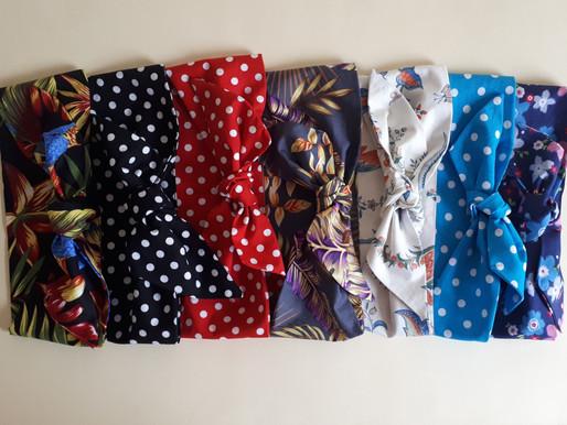 Handmade Rockabilly Cotton Head Ties by LanRetro