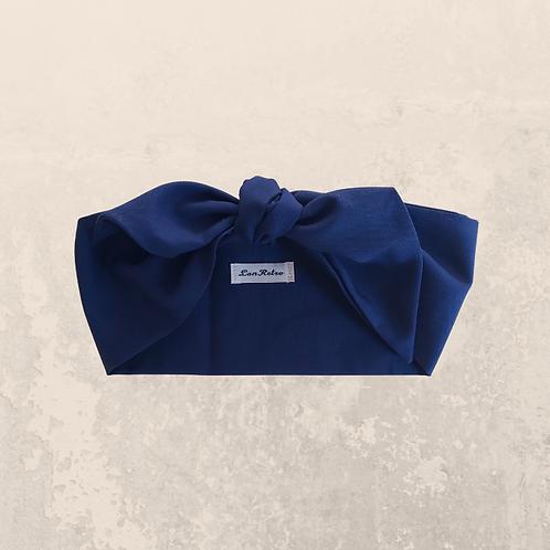 Navy Blue Plain Coloured Head Tie