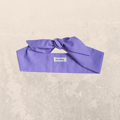 Lilac Plain Coloured Self Tie Headband 6 cm