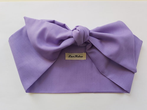 Lilac Plain Coloured Head Tie
