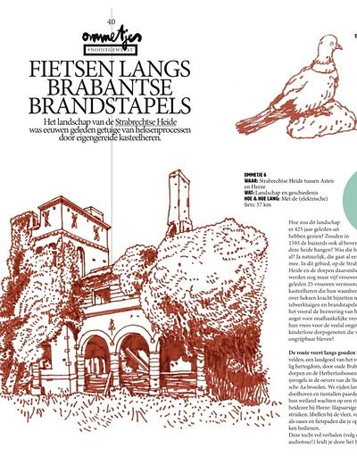 Fietsen langs Brabantse brandstapels