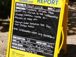 ビーチのサイン/BEACH REPORT