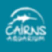 Cairns Aquarium Logo - White on Blue Bac