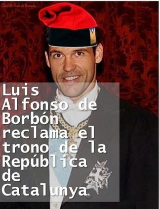 Luis Alfonso de Borbón reclama el trono de la República de Catalunya