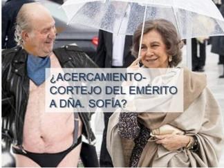 ¿Acercamiento-cortejo del Emérito a Dña. Sofía?