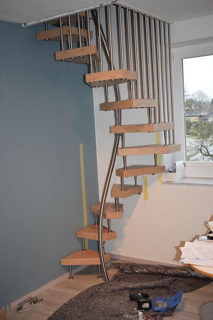 Raumsparzreppe 120x120, Treppen, Dachbodenausbau
