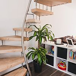 Raumspartreppe 1m² Treppe