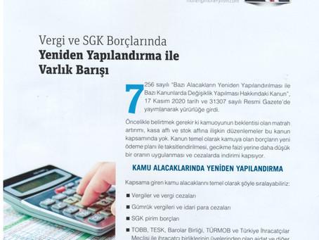 Vergi ve SGK Borçlarında Yeniden Yapılandırma ile Varlık Barışı