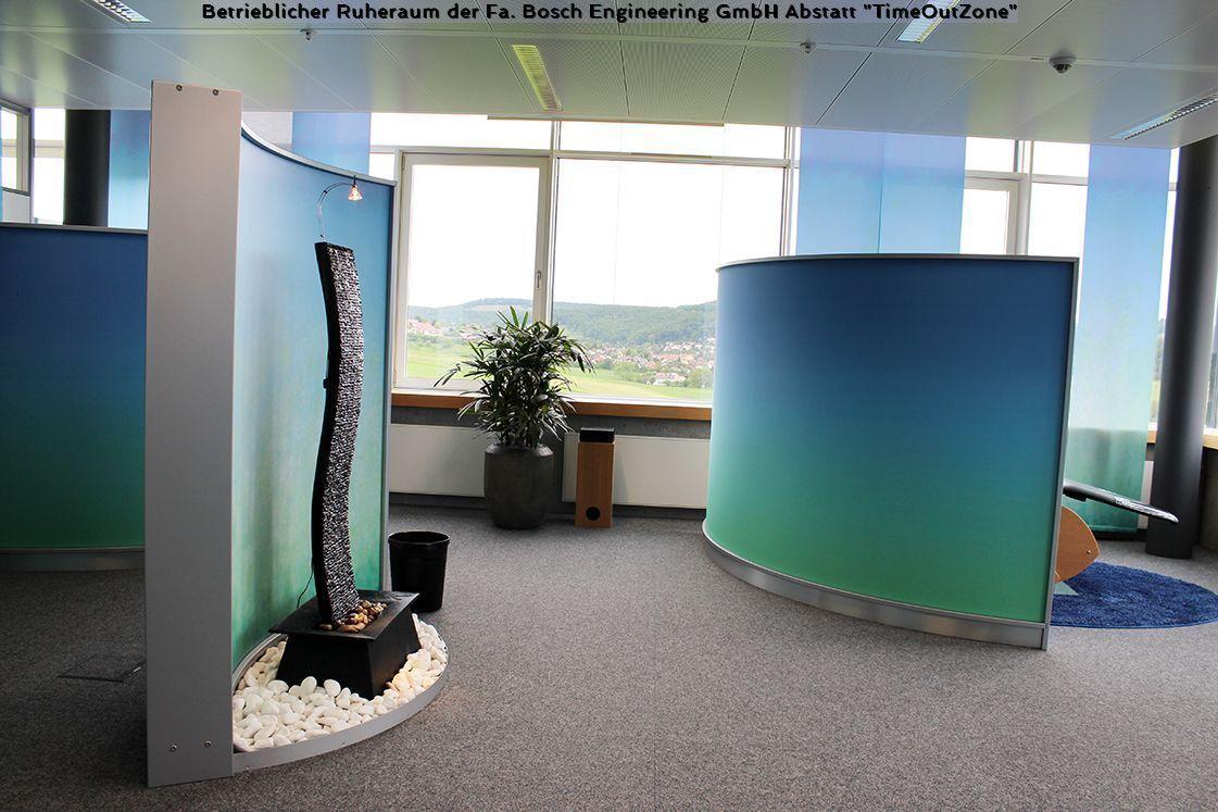 Wave Display als Raumgliederung