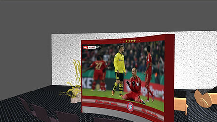 Wave Display als Multimedia- Raummodul, Beameranwendung mit VIOSO Spezialsoft