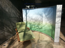 Wave Display als Paravent-Raumteiler