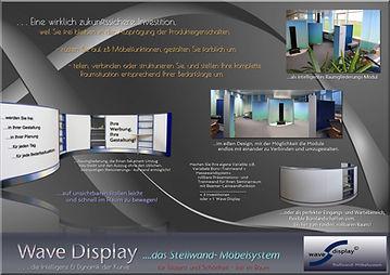 Wave Display Stellwand-Möbelsystem, eine wirklich zukunftsichere Investitition