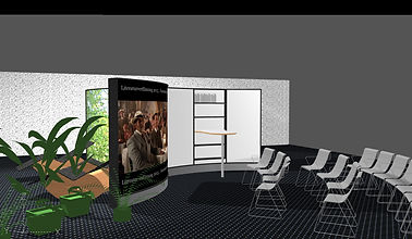 Wave Display Stellwand-Möbelsystem Multimedia auf Messen, Hotell- und Wellnessbereich