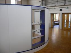 Wave Display als runder Raumteiler