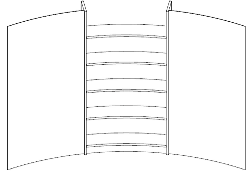 Stelllwandsystem mit Regal und Möbelfunktionen