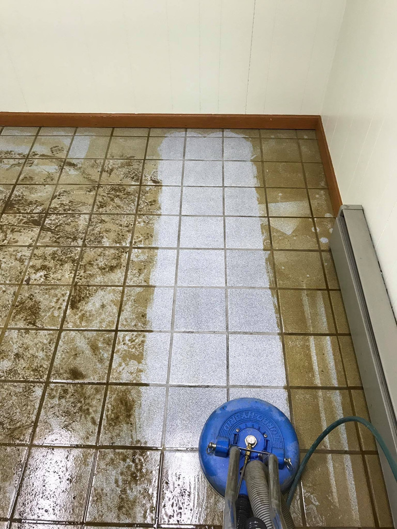 Cleaning Tile Floor