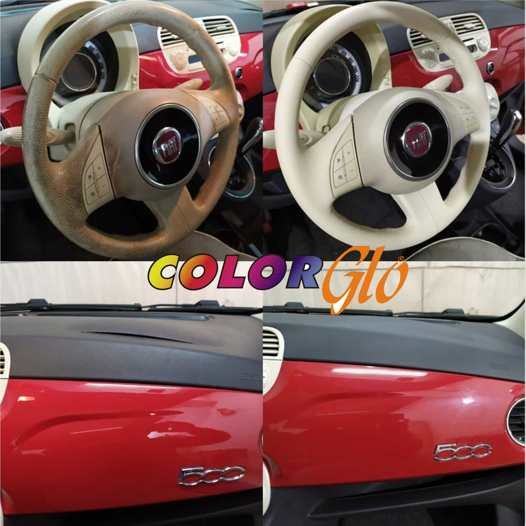 Fiat 500 ταμπλό & τιμόνι
