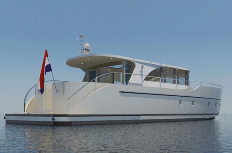 """Nominiert zum """"HISWA Boot van het jaar"""". Die Vedette Navigator 35."""