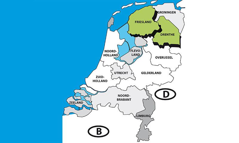 Drenthe und Friesland gehören zu den Top 25 Regionen mit den niedrigsten Corona-Neuinfektionen in Europa.
