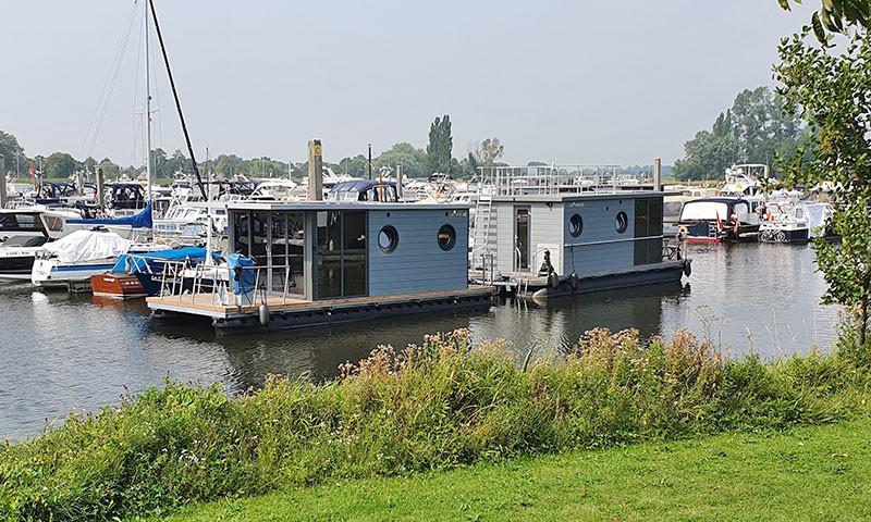 Miet-Hausboote der IJsseldelta Marina in Hattem.