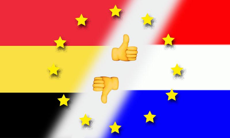 Im Grenzgebiet von Belgien zu den Niederlanden führen unterschiedliche Maßnahmen zu grotesken Situationen.