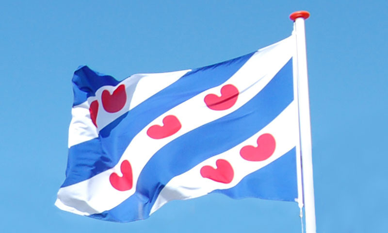 Die Flagge der Provinz Friesland.