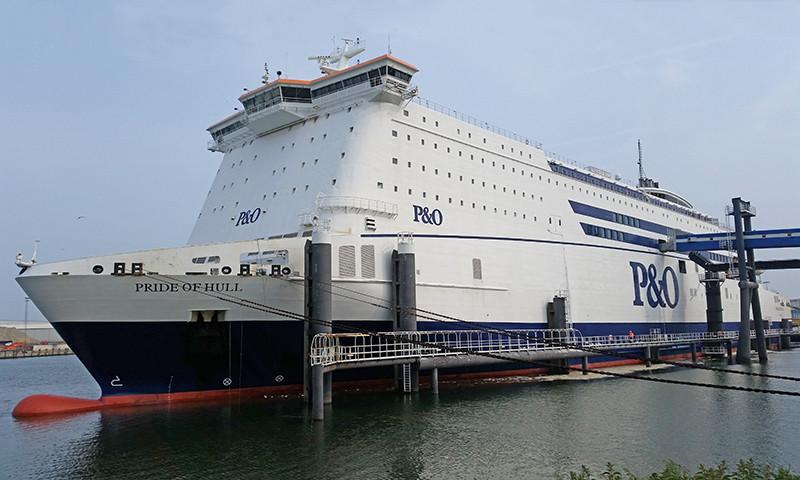 Im Januar weniger Güterverkehr und somit weniger Fähren zur Insel.
