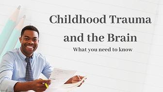 Childhood trauma and the brain online training
