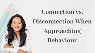 Connection vs Disconnection When Approaching Behaviourtraining