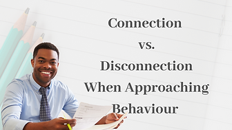 Connection vs. disconnection when approaching behaviour training