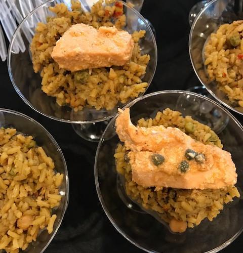Jerk Rice with Salmon