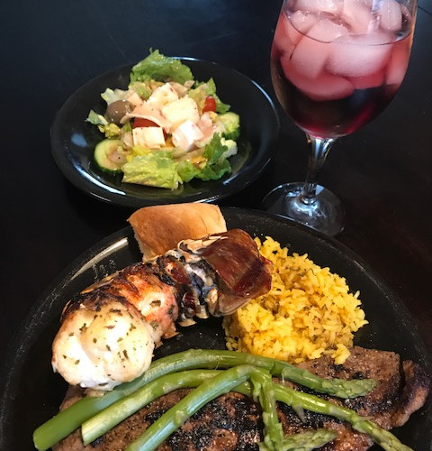 Steak & Loster Tails w/ Green Beans