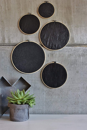Set of 5 LEATHER MOONS