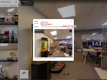How to embed your Google Maps Street View virtual tour to your website
