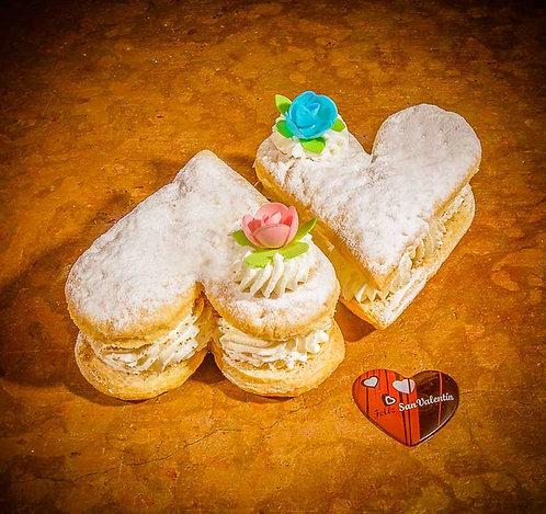 Corazónes de Nata de San Valentín