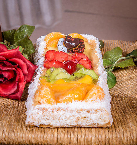 Banda del día de la Madre con frutas naturales y confitadas